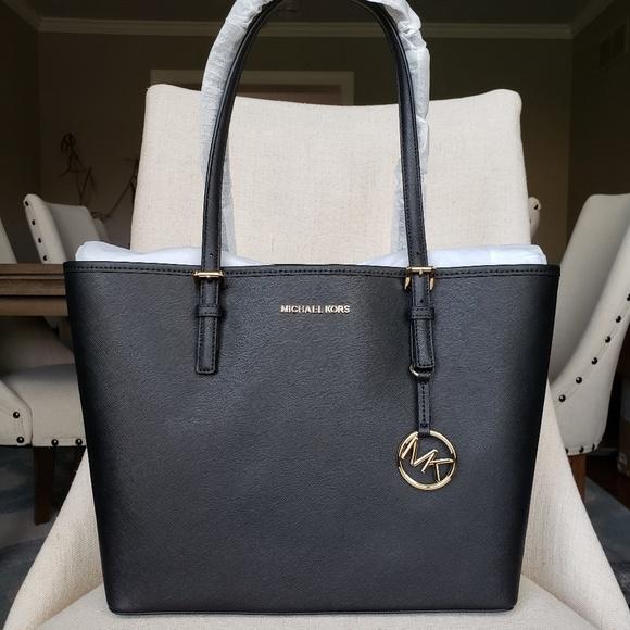 MICHAEL Michael Kors Handbags - NWT Michael Kors MD Carryall Tote Bag Black purse